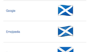 The flag of Scotland's emoji design for various apps, as catalogued by Emojipedia. (Emojipedia)