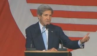 Former Secretary of State John Kerry blasted the Trump administration during a commencement speech Wednesday at Harvard's John F. Kennedy School of Government, advising graduates to learn to speak Russian in light of collusion allegations. (YouTube/@Harvard Kennedy School)