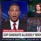 """CNN host Don Lemon scolded a guest Wednesday night for refusing to accept his narrative that President Trump's anti-media rhetoric is responsible for Greg Gianforte's alleged """"body slam"""" of a Guardian reporter. (CNN)"""
