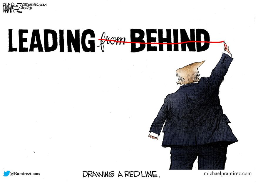 Drawing a red line.