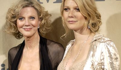Actress Blythe Danner with her daughter Gwyneth Paltrow