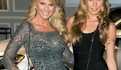 Supermodel Christie Brinkley and her daughter Sailor Brinkley Cook