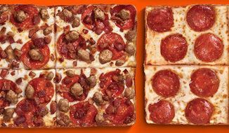 """Little Caesar's pizzas are depicted here in this image from their Facebook page. The company is the target of a $100-million lawsuit in Michigan after a Dearborn man claims he ate a pork-laden pizza that was mistakenly labeled """"halal,"""" a religious designation in the Muslim faith akin to the Jewish faith's kosher designation."""