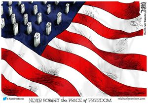 Never forget the price of freedom