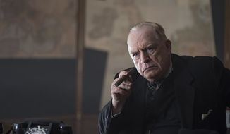 """Brian Cox as the prime minister in a scene from """"Churchill.""""  (Cohen Media Group)"""