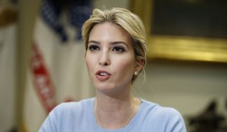 Ivanka Trump hosts a meeting on human trafficking with congressional leaders in the White House in Washington in this May 17, 2017, file photo. (AP Photo/Evan Vucci, File)