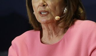 House Minority Leader Nancy Pelosi, of Calif., speaks at The Commonwealth Club in San Francisco, Tuesday, May 30, 2017. (AP Photo/Jeff Chiu)