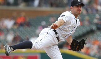 Detroit Tigers pitcher Jordan Zimmermann throws against the Chicago White Sox in the first inning of a baseball game in Detroit, Saturday, June 3, 2017. (AP Photo/Paul Sancya)