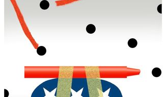 Illustration on needing to improve GOP messaging by Alexander Hunter/The Washington Times