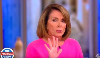 """House Minority Leader Nancy Pelosi told the hosts of ABC's """"The View"""" on Monday, June 5, 2017, that she never said former FBI Director James Comey should be fired. She told CNN on Nov. 2, 2016, that he """"couldn't take the heat"""" and may be one of many professional """"casualties"""" if Democrat Hillary Clinton were elected president. (""""The View"""" screenshot)"""