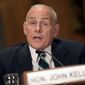 "Homeland Security Secretary John F. Kelly said the threat from terrorist ""foot soldiers"" is as great as ever and expects some will try to reach the U.S. (Associated Press)"