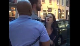 PHL17's Colleen Campbell is out of a job after a video of her berating a police officer outside a comedy club went viral. (Facebook/@Wil Sylvince)