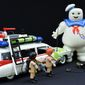 The Ecto-1 and the Stay Puft Marshmallow Man from Playmobil's Ghostbusters collection. (Photograph by Joseph Szadkowski / The Washington Times)