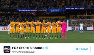 A World Cup qualifying match between Australia and Saudi Arabia began with controversy on June 7, 2017, when the Saudi players roamed around and stretched while the rest of the stadium gave a minute of silence for those killed in London's June 3 terror attack. (Twitter, Fox Sports Football)