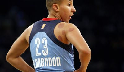 In this Wednesday, June 7, 2017 photo, Atlanta Dream guard Layshia Clarendon (23) toward the bench during an WNBA basketball game against the New York Liberty in New York. Clarendon penned an essay in April about a sexual assault she suffered when she was younger. She hoped it would be both therapeutic as well as offer encouragement to others to speak up. She's been overwhelmed by the positive response she's gotten so far. (AP Photo/Kathy Willens)