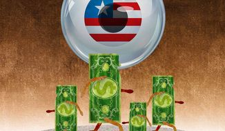 Government Collecting Financial Data Illustration by Greg Groesch/The Washington Times