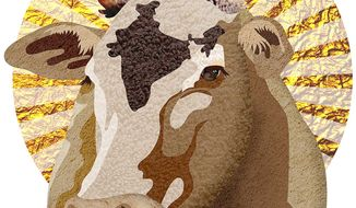 Sacred Cow of India Illustration by Greg Groesch/The Washington Times