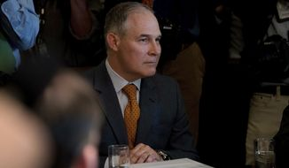 Environmental Protection Agency Administrator Scott Pruitt attends a Cabinet meeting with President Donald Trump, Monday, June 12, 2017, in the Cabinet Room of the White House in Washington. (AP Photo/Andrew Harnik)