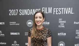 "Director/writer/producer/actress Zoe Lister-Jones poses at the premiere of the film ""Band Aid"" at the Eccles Theatre during the 2017 Sundance Film Festival on Tuesday, Jan. 24, 2017, in Park City, Utah. (Photo by Arthur Mola/Invision/AP)"