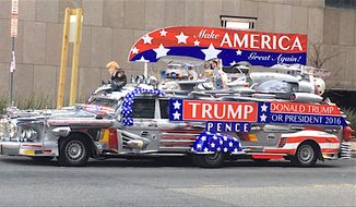 "Local Republicans in Florida will celebrate President Trump's birthday with a public celebration and an appearance by the ""TrumpMobile."" (Image courtesy of Lake County Republicans)"