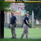 A gunman shot at lawmakers during a congressional baseball practice in Alexandria, Virginia, Wednesday. Rep. Steve Scalise was injured in the attack. (Associated Press)