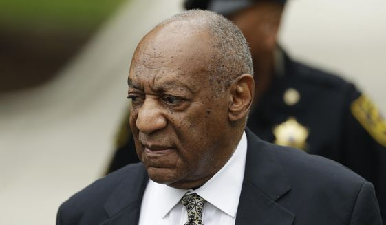 Bill Cosby arrives for jury deliberations in his sexual assault trial at the Montgomery County Courthouse in Norristown, Pa., Thursday, June 15, 2017. (AP Photo/Matt Slocum)