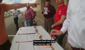 Jeff LeTourneau, co-chair of the Democratic Party of Orange County, was filmed over the weekend berating a group of gas tax opponents trying to collect signatures in Fullerton, California. (SDGLN)