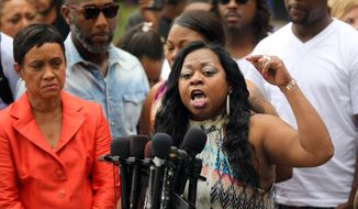 Valerie Castile, mother of Philando Castile, spoke with passion about her reaction to a not guity verdict for Officer Jeronimo Yanez at the Ramsey County Courthouse in St. Paul, Minn., on Friday June 16, 2017.  (Renee Jones Schneider/Star Tribune via AP)