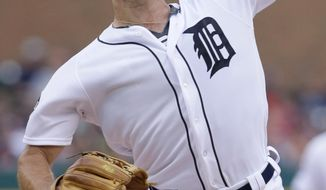 Detroit Tigers starting pitcher Daniel Norris throws against the Tampa Bay Rays during the second inning of a baseball game Friday, June 16, 2017, in Detroit. (AP Photo/Duane Burleson)