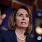 House Minority Leader Nancy Pelosi, D-Calif., reflects on President Donald Trump, the Senate Intelligence Committee hearing with former FBI Director James Comey, and the investigations surrounding Russia's meddling in the 2016 election, during a weekly news conference on Capitol Hill in Washington, Friday, June 9, 2017. (AP Photo/J. Scott Applewhite) ** FILE **