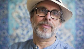 """In this June 18, 2017 photo, author Michael Chabon, poses for a photo at the launch of a new book of essays titled """"Kingdom of Olive and Ash"""" that describes the Israeli occupation of the West Bank, now in its 50th year, In Jerusalem. (AP Photo/Oded Balilty)"""