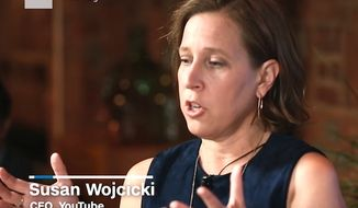 "YouTube CEO Susan Wojcicki speaks to CNN about ""micro aggressions"" in the workplace, May 4, 2017 (YouTube, CNN) ** FILE **"