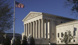 The Supreme Court in Washington is seen here on April 4, 2017. (Associated Press) **FILE**