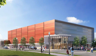 An architect's rendering of the proposed sports and entertainment arena in Ward 8. / Photo courtesy of Events DC