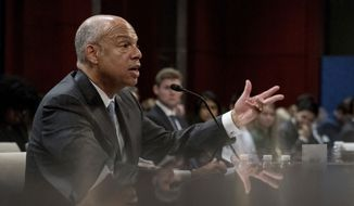 """Former Homeland Security Secretary Jeh Johnson provided new details Wednesday about an unprecedented series of Kremlin-sponsored cyberattacks in a hearing of the House Permanent Select Committee on Intelligence. He warned lawmakers that such attacks """"are going to get worse before they get better."""" (Associated Press)"""