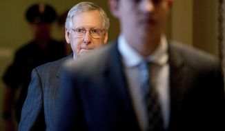 Senate Majority Leader Mitch McConnell, the chief architect of the plan, has a hard sell it to wary conservatives and moderates within his own party. (Associated Press)