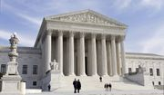 This Jan. 25, 2012, file photo, shows the U.S. Supreme Court Building in Washington. The Supreme Court has almost certainly decided what to do about President Donald Trumps travel ban affecting citizens of six mostly Muslim countries. The country is waiting for the court to make its decision public about the biggest legal controversy in the first five months of Trumps presidency. (AP Photo/J. Scott Applewhite, File)