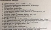 An Alabama high school has pulled a teacher's summer reading list after people complained it only contained conservative and right-leaning texts. (Twitter/@RachelGonKCMO)