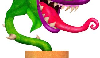 The Illinois Shop of Horrors Illustration by Greg Groesch/The Washington Times
