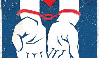 Illustration on the real situation of Cuba by Linas Garsys/The Washington Times