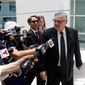 Former Maricopa County Sheriff Joe Arpaio is back in court, this time as a defendant. He is accused of willfully disobeying an injunction barring him from enforcing federal immigration laws. (Associated Press)