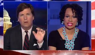 """Essex County College has fired adjunct professor Lisa Durden after she defended a blacks-only event during a heated interview on Fox News' """"Tucker Carlson Tonight."""" (Fox News)"""