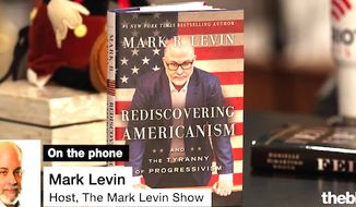 """Radio host and author Mark Levin was interviewed on """"The Glenn Beck Radio Program"""" on June 27, 2017, to discuss his new book, """"Rediscovering Americanism,"""" and the nation's political landscape. (The Blaze screenshot)"""