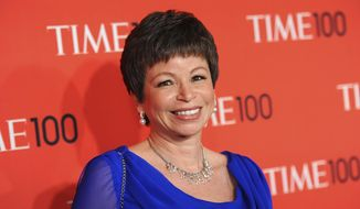 "Senior adviser to President Barack Obama, Valerie Jarrett, attends the TIME 100 Gala celebrating the ""100 Most Influential People in the World"" in New York, April 23, 2013. (Photo by Evan Agostini/Invision/AP) ** FILE **"