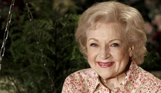 """Actress Betty White poses for a portrait on the set of the television show """"Hot in Cleveland"""" in Studio City section of Los Angeles on Wednesday, June 9, 2010. (AP Photo/Matt Sayles)"""