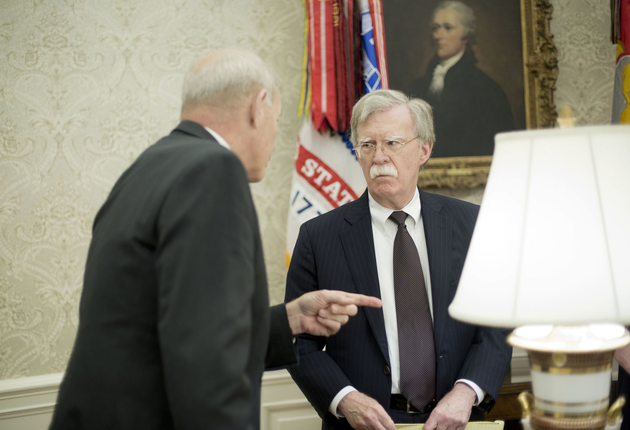 John Kelly, John Bolton get into heated argument outside Oval Office
