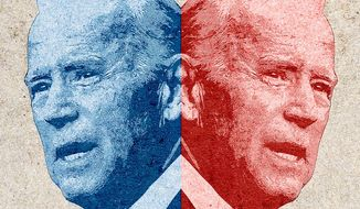 Two-Faced Joe Illustration by Greg Groesch/The Washington Times