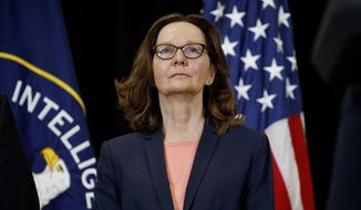 CIA Director Gina Haspel leads a team that runs the spies behind enemy lines and produces the analysis on which President Trump and his team rely. (Associated Press/File)