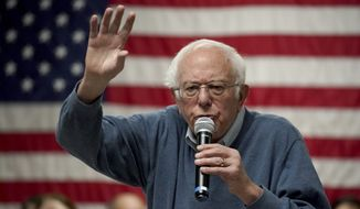 Democratic presidential candidate Sen. Bernie Sanders, I-Vt., speaks during a campaign stop, Sunday, Nov. 24, 2019, in Hillsboro, N.H. (AP Photo/Mary Schwalm) ** FILE **