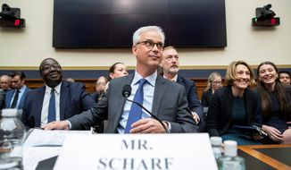 Wells Fargo CEO Charles Scharf, who took over the bank in October, was grilled by the House Financial Services Committee over the bank's practices of opening phony accounts in customers' names that came to light in 2016. (Associated Press)